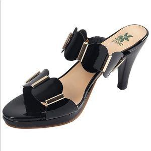 Chunky Dress Mules Open Toe Platform Pump Sandal